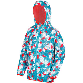Regatta Printed Lever Jacket Children white/turquoise